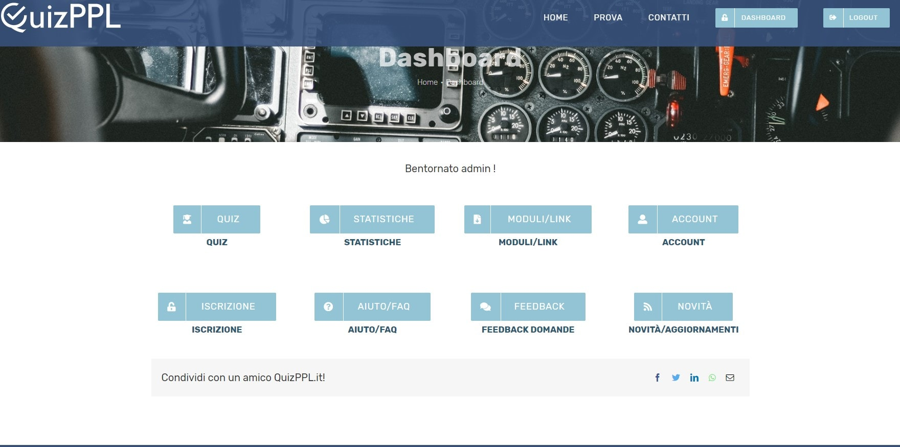Dashboard di Quizppl.it