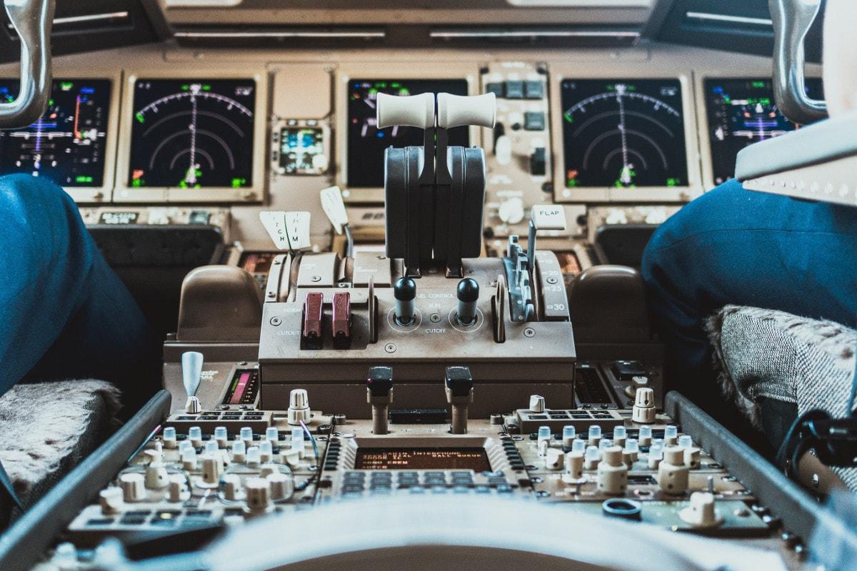 Cabin di pilotaggio Boeing 747